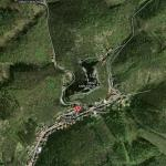 вид сверху на замок Карлштайн /Чехия/