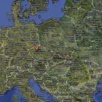 расположение замка Карлштайн /Чехия/