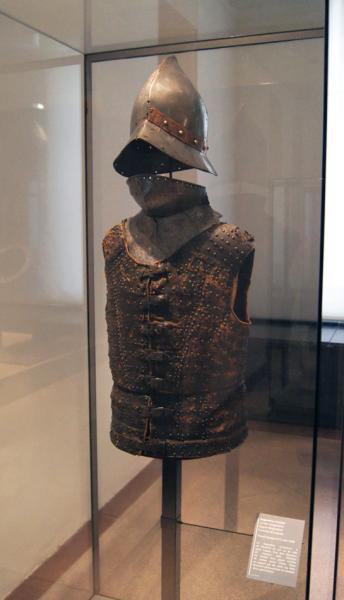 бригантина, кабассет, горжета /XVв., музей Армии, г. Париж/